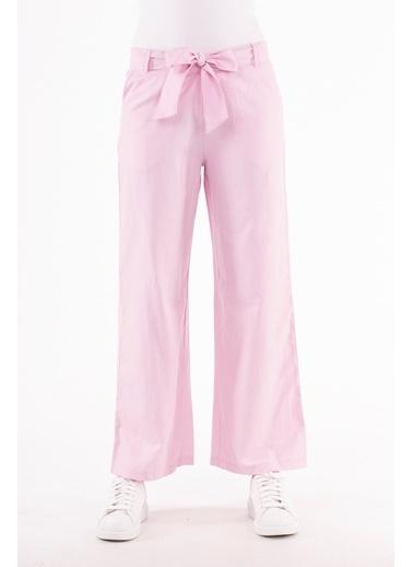Stamina  Bayan Beli Lastikli Geniş Paça Pantolon-5PN01 Pembe